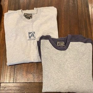 2- Abercrombie and Fitch long sleeve shirts sizeXL
